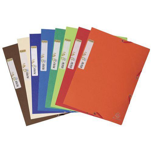 Carpeta de cartulina reciclada con 3 solapas y elásticos Forever A4 - Colores surtidos - Paquete de 25