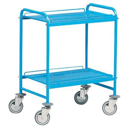 Carro con bandejas de metal - 2 niveles - Carga 150 kg