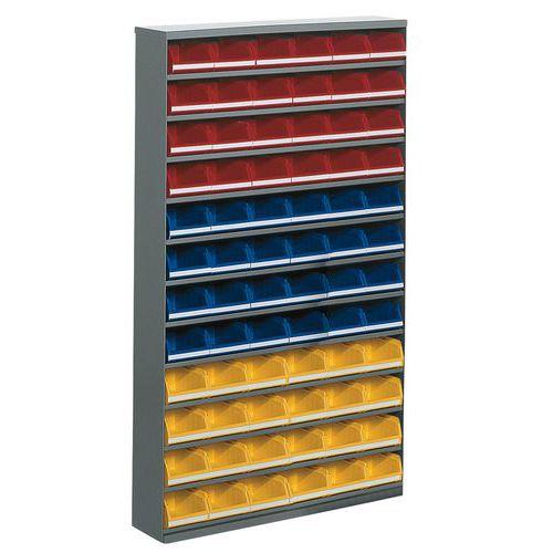 Armario con 72 cajas abertura frontal - Baja - Sin puerta