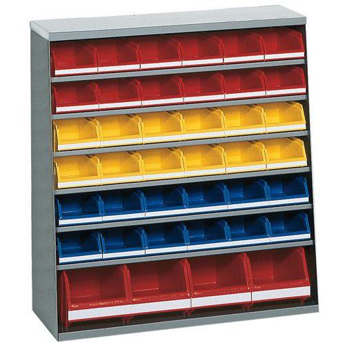 Armario con 32 cajas con abertura frontal - Bajo - Sin puertas