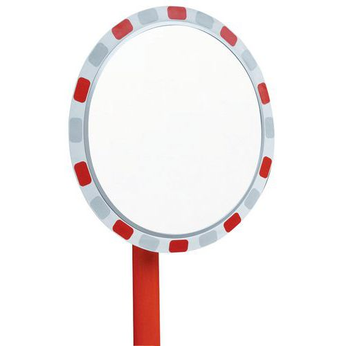 Espejo de seguridad redondo - Vías privadas - Visión 90° - Manutan