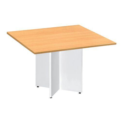Extensión rectangular para mesa modular ovalada con pata en cruz