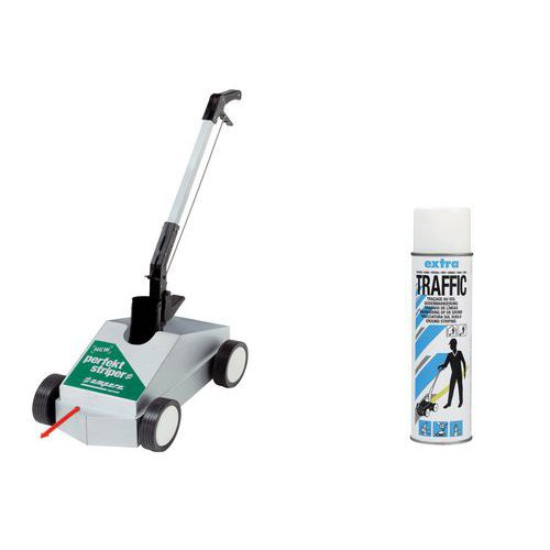 Kit de trazado Perfekt Striper® + 1 aerosol Traffic Extra blanco