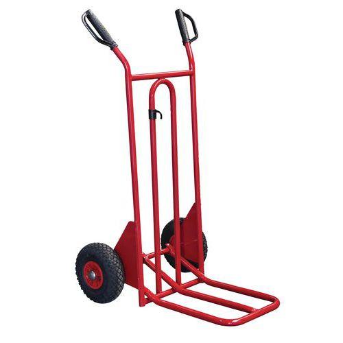 Carretilla de acero - Ruedas neumáticas - Capacidad de carga 250 kg