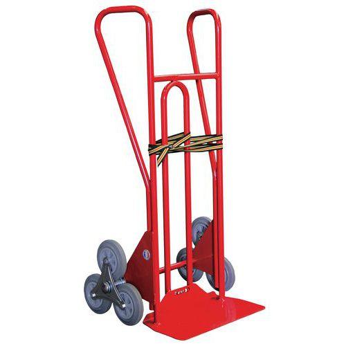 Carretilla de acero para escalera de 3 ruedas en estrella 250 kg