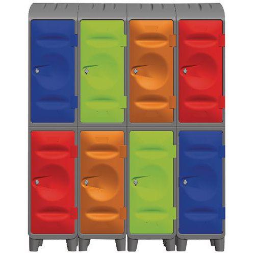 Medio-armario de plástico - Con patas - Sin cubierta - Interior vacío