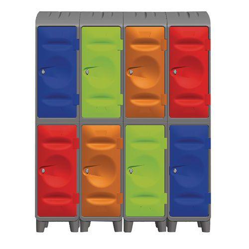Medio-armario de plástico - En base - Con cubierta