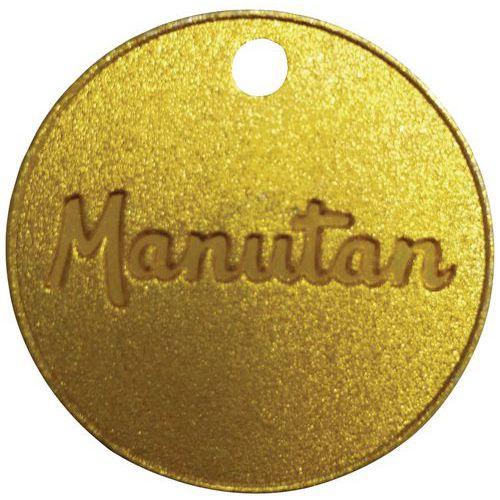 Ficha numerada de 001 a 100 de latón 30mm (por 100) - Manutan