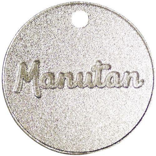 Ficha numerada de 001 a 300 de aluminio 30mm (por 100) - Manutan