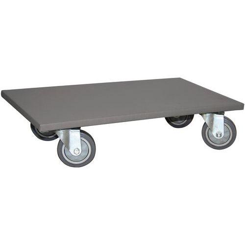 Plataforma rodante de madera - Capacidad 300 y 500 kg - Manutan