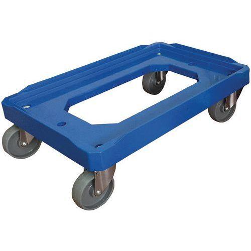 Plataforma rodante caja norma Europa capacidad 150 y 250 kg Manutan
