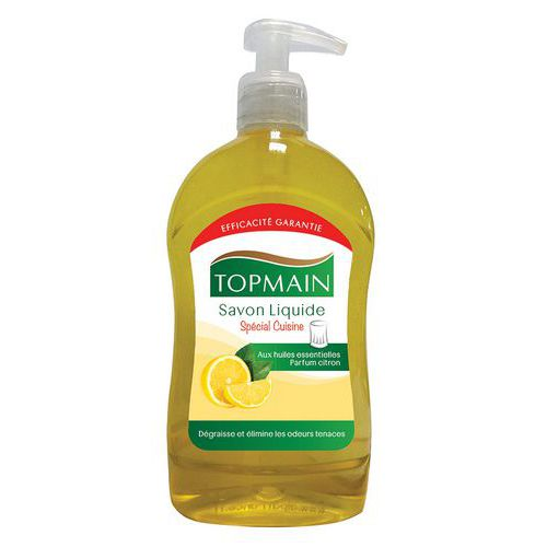 Jabón líquido de cocina Topmain limón - Frasco dispensador 500 ml