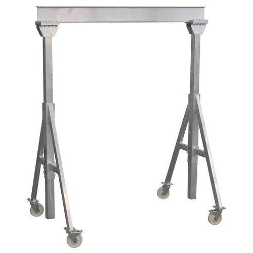 Grúa pórtico de aluminio - Cargas 1.000 y 1.500 kg