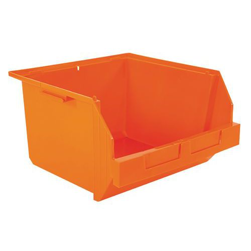 Caja con abertura frontal ensamblable para picking - Longitud 400 mm - 28 L