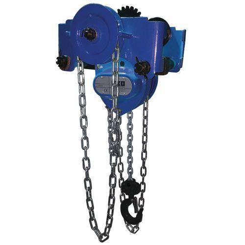 Polipasto de cadena en carro portapolipastos - Cargas de 250 a 5.000 kg