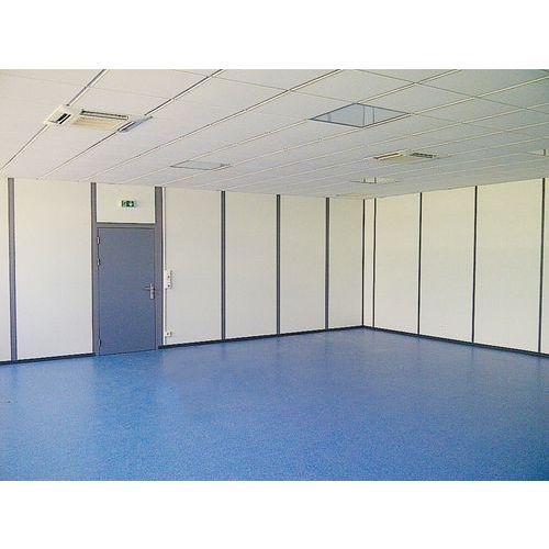 Cerramiento de tabique doble de melamina - Panel macizo - Altura 2,50 m