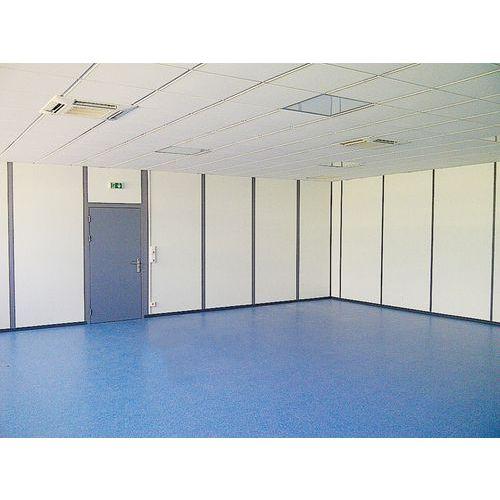 Cerramiento de tabique doble de melamina - Panel macizo - Altura 3 m