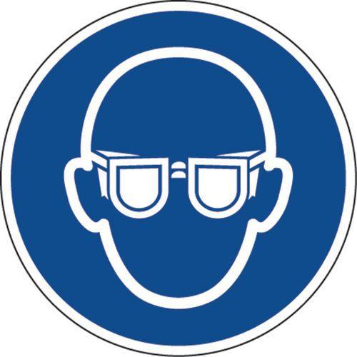 Panel de obligación - Gafas de protección obligatorias - Adhesivo