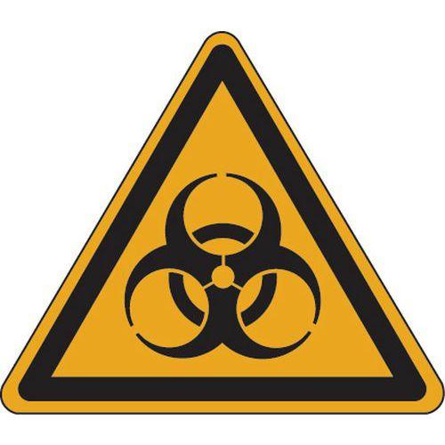 Panel de peligro - Riesgo biológico - Adhesivo