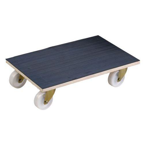 Plataforma rodante madera - Acabado de goma - Carga 500 kg