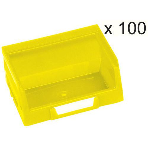 Lote de 100 cajas aberturas frontal Kangourou - Largo 103 mm - 0,4 L - Manutan
