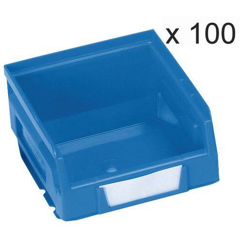 Lote de 100 caja abertura frontal Kangourou - Largo 103 mm - 0,7 L - Manutan