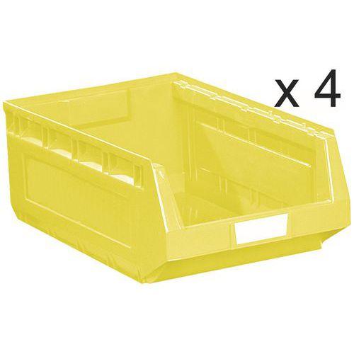 Lote de 4 cajas abertura frontal Kangourou - Largo 580 mm - 52 L - Manutan