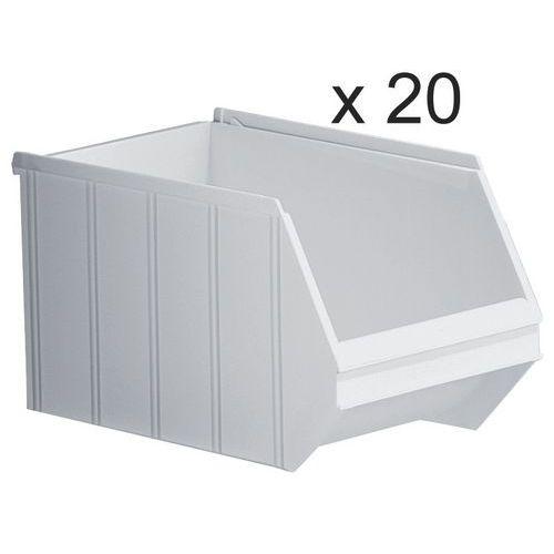 Cajas abertura frontal apilables - Longitud 350 mm - 14 L - Lote de 20
