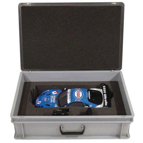 Caja-maletín Rako con tapa - Interior de espuma - 600 mm de longitud