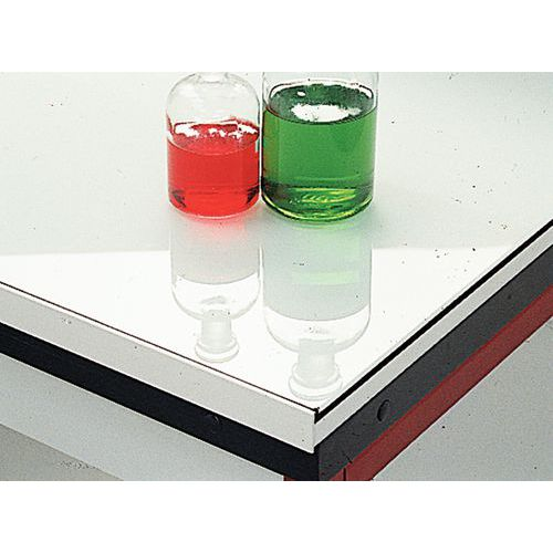 Mueble de ángulo modular para laboratorio - Vidrio esmaltado - Sin respaldo