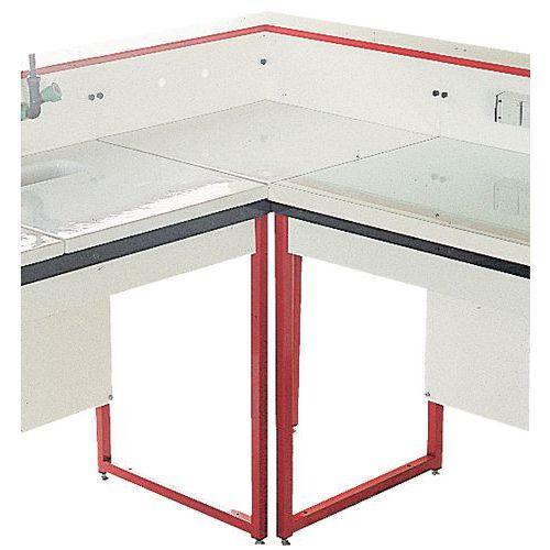 Mueble de ángulo modular para laboratorio - Estratificado - con respaldo