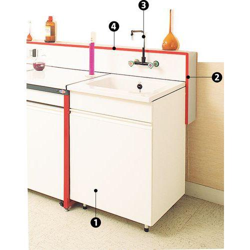 Fregadero modular para bajomesa de laboratorio