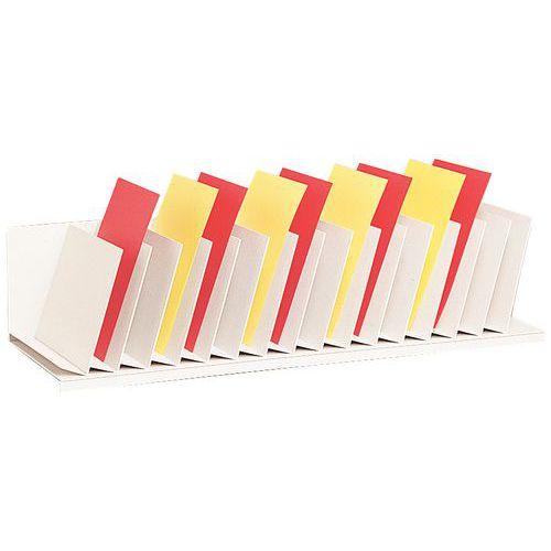 Clasificador vertical con separadores inclinados para armarios - Gris