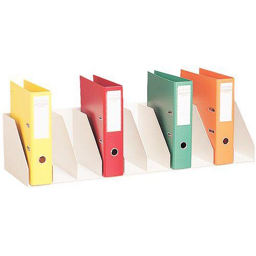 Clasificador vertical con separadores fijos para armarios - Gris - Paperflow