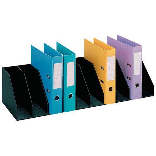 Clasificador vertical con separadores fijos para armarios - Negro - Paperflow