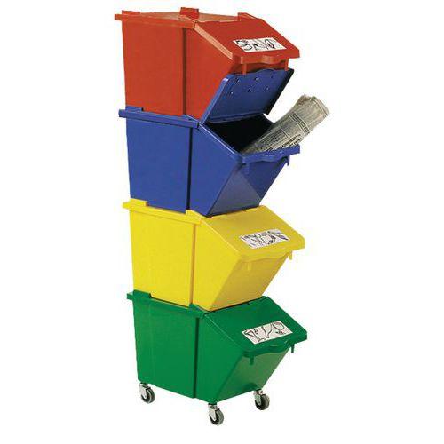 Cubo de basura HACCP encajable - 45 L