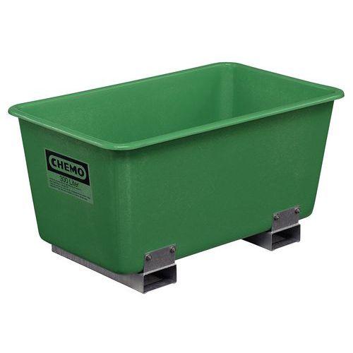 Caja encajable con guías para horquilla - 300 L