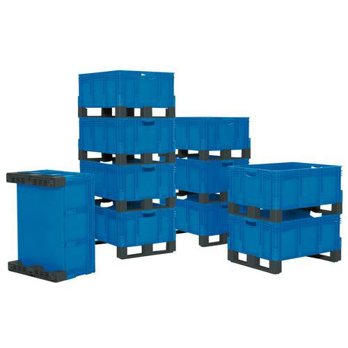 Caja apilable XL - de 121 a 206 L - Con patines