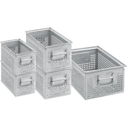 Caja de transporte de acero perforado - Longitud de 315 a 630 mm