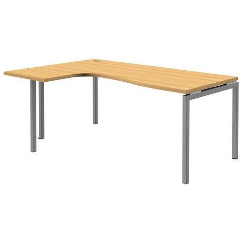 Mesa de oficina compacta open haya aluminio patas for Patas mesa oficina