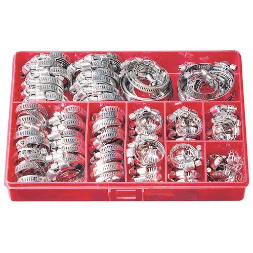 Caja de abrazadera de sujeción Serflex de banda calada - 200 piezas - Anchura de 8 mm