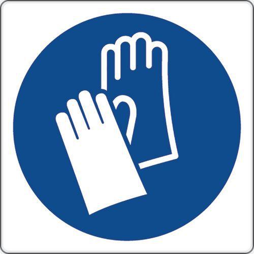 Panel de obligación - Usar guantes de protección - Aluminio