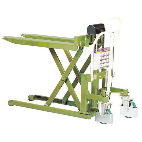 Transpaleta manual de gran elevación- Longitud de la horquilla 1080 mm - Fuerza 1000 kg