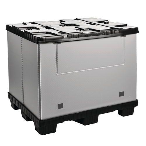 Caja-palet plegable Mega Pack - Con panel lateral abatible