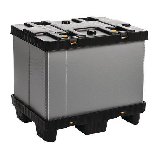 Caja-palet plegable Mega Pack - Con paneles laterales fijos