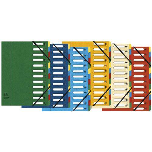 Clasificador en ventanas de 12 compartimentos - Colores surtidos - lote de 6