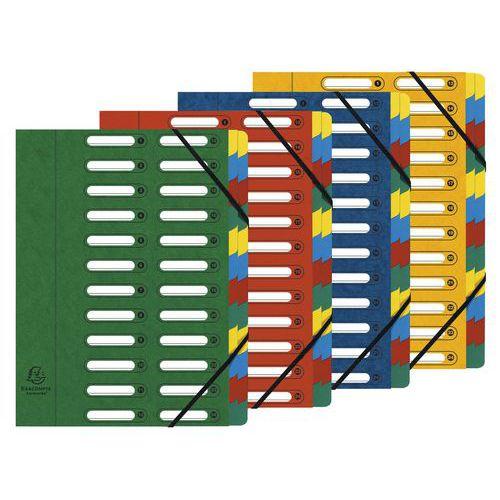 Clasificador con ventanas de 24 compartimentos - Colores surtidos - lote de 4