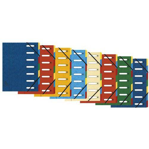 Clasificador con ventanas de 7 compartimentos - Colores surtidos - lote de 8