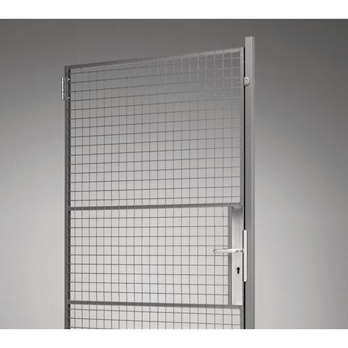 Puerta batiente para tabique de rejilla UX 450 - con placa portacandados