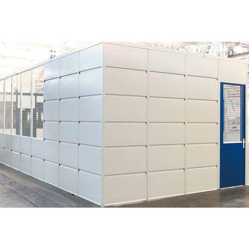 Puerta corredera para cerramientos de taller de chapa de acero - Panel macizo - Altura 2,51 m